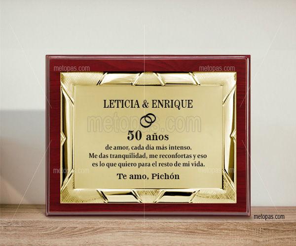 Venta online de placas conmemorativas personalizables directamente al fabricante